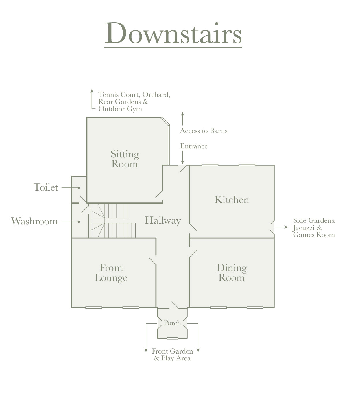 Downstairs Room Plan