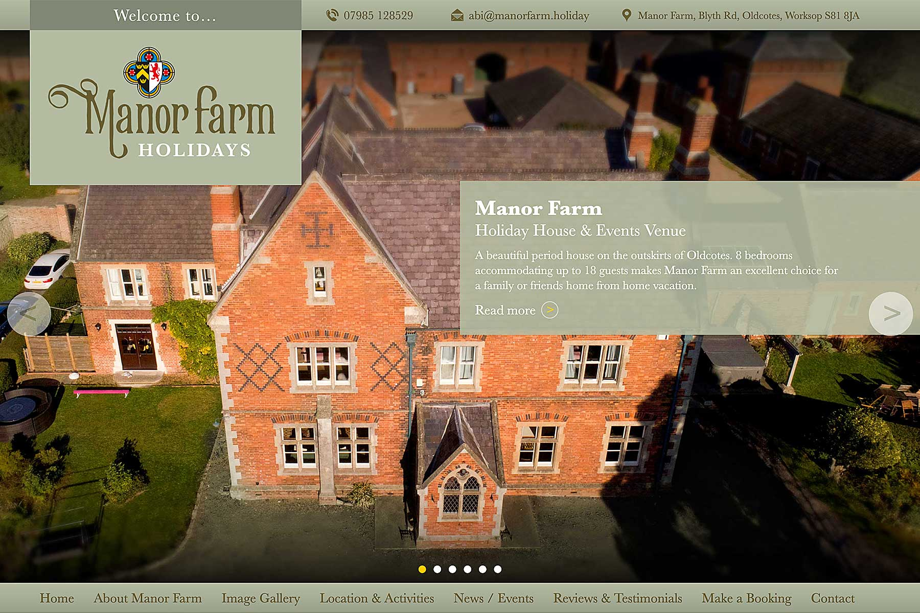 New website and corporate identity for Manor Farm